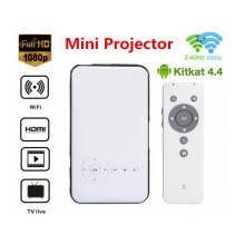 Projecteur Mini Pocket Mini Projecteur HD 1080P Pico Projecteur Moteur