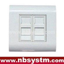 Caixa de superfície de porta dupla com obturador