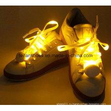 Горячей продажи мигающий светодиодный шнурки красочные светящиеся светодиодные шнурки (FF92-1)