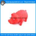 Jouet de chien rose de porc de latex de produits animaux de la Chine