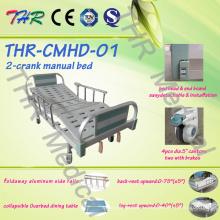 Медицинская двухрядная ручная кровать (THR-CMHD)