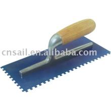 Plastering Trowel Wood Handle with Small Teeth