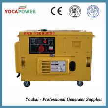 Трехфазный 12,5кВА дизельный генератор 10 кВт портативный бесшумный генератор