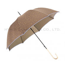 Leopard Print Auto Open Women's Dome Umbrella