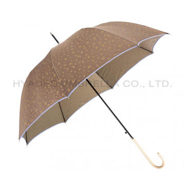 Leopard Print Auto Open Wanita Dome Umbrella