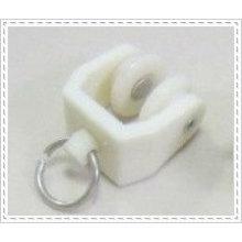 Пластины белого цвета Пластины для направляющих рельсов Curtain с колесом и для гибкой направляющей