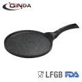 Die cast aluminum marble coating round fry pan without lid