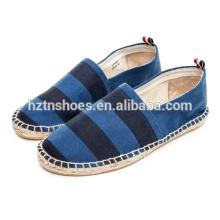 Weiche flache beiläufige Schuhe breite gestreifte Männer espadrille Schuhe