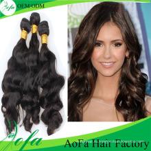 Необработанные Бразильский волнистые Реми Девы волос для женщины