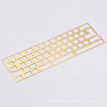 Custom CNC 60% PVD Brass mechanical keyboard Plate