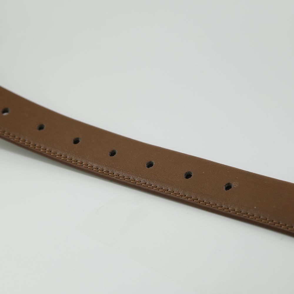 Men's Reversible Leather Belt For Jeans Brown