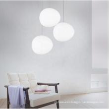 Irregular White Stone Shape LED Lights  Modern Design  Creative Simple Glass Pendant Lights For Bedroom Restaurant Bar Cafe