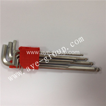 Ball head long hex key with 9 pcs