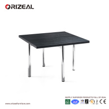 Mesa de centro cromada negra de Orizeal Square (OZ-OTB005)