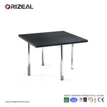 Table basse Orizeal Black Square en chrome (OZ-OTB005)