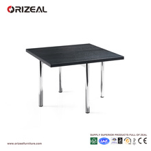 Orizeal Black Square Chrome Coffee Table (OZ-OTB005)