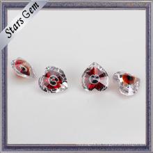 Forma de corazón rojo sangre Diseño especial multi color piedra preciosa