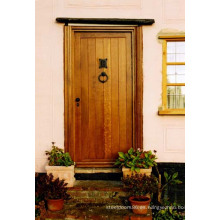 Puerta de madera de la casa de diseño de la puerta delantera de Mohogany de madera barata