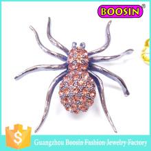 La última moda al por mayor de los hombres de metal personalizado Animal Fabergé Broche de araña