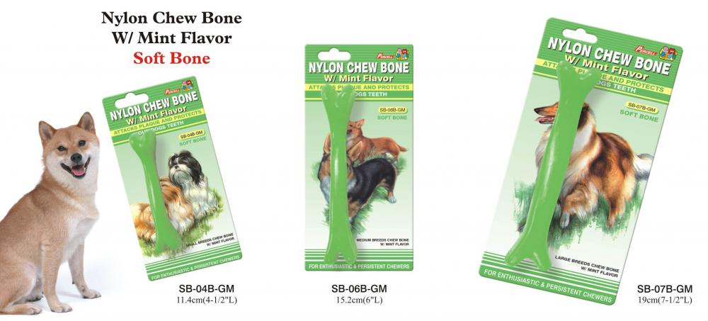 Soft Nylon Chew Bone Mint Scent Small Medium And Large