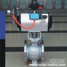 Cast Steel Body Pneumatic Operated V-Port Ball Valve