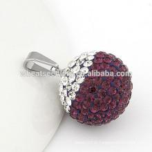 Colgante cristalino de la bola cristalina del shamballa de la alta calidad 20 milímetros