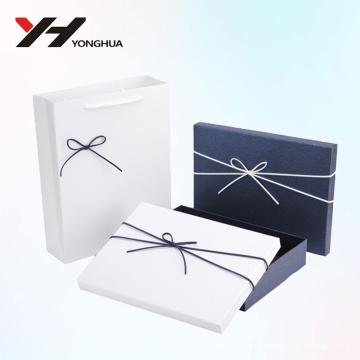 2018 logo al por mayor impreso caja de papel de cartón reciclable azul y blanco