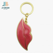 Custom Promotional Gift Wholesale Red Color Metal Keychain for Decoration