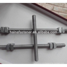 Dacromet stud bolt with nut