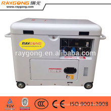 Buen precio 5kw pequeño generador de diesel silencioso refrigerado por aire