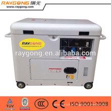 Bom preço 5kw Ar refrigerado pequeno silencioso gerador diesel