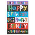 Várias cores cartão de convite para festa de aniversário das crianças, cartão de convite dos desenhos animados cartão de brilho