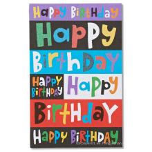 Tarjeta de invitación de varios colores para la fiesta de cumpleaños infantil, Tarjeta de invitación de dibujos animados Tarjeta de brillo