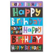 Carte d'invitation de diverses couleurs pour la fête d'anniversaire des enfants, carte d'invitation de dessin animé