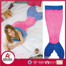 Preço razoável super macio bonito flanela fleece mermaid tail blanket