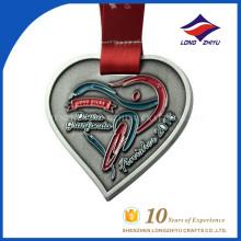 Médaille de vente en gros sans ordonnance en émail Metal Heartshape
