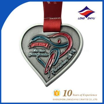 Esmalte Metal Heartshape Custom Cheap Wholesale Medal