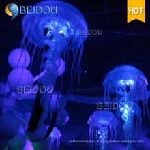 Décoration Événement Stage Fête de mariage RC LED Inflatable Jellyfish