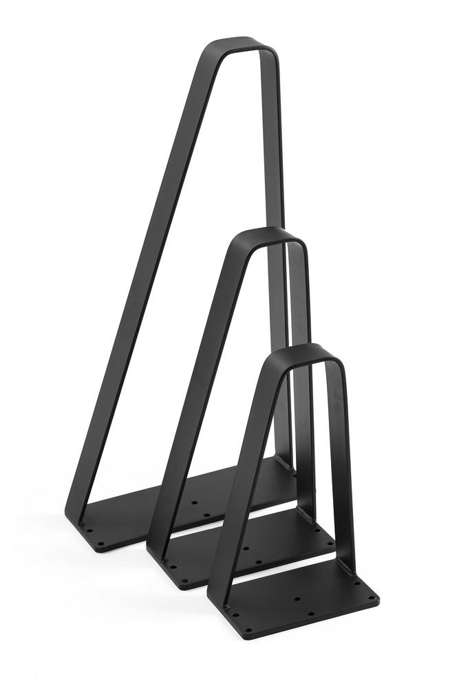 flat metal bench legs