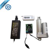 Alta velocidade 12 v DC mini atuador linear com controle remoto
