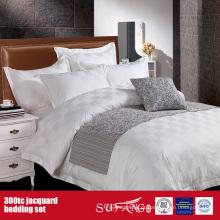 300TC Jacquard Atacado Bedding Set Motel Cheap Duvet Cover