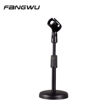 Round Base Desktop Table Microphone Mic Holder Stand with Clip