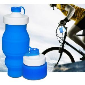 Sport silicone folding water bottle