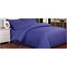 Venta al por mayor Custom Home 3cm Stripe Cotton Bed Sheet