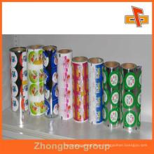 Película de tapa pelable PE para yogur Cubierta de la taza de aluminio / tapas en rollo