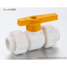 PPR-Kugelhahn mit Überwurfmutter / Griffventil mit Kunststoffgriff