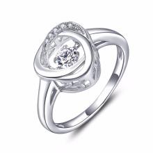 925 Серебряные ювелирные изделия Танцующие бриллиантовые кольца Оптовые продажи