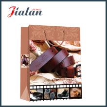 Cinturão de papel de marfim laminado mate Shopping Gift Paper Bag
