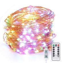 8 Modes Holiday Lighting 100LED Copper Wire Waterproof Outdoor Solar String Lights For Christmas Decoration