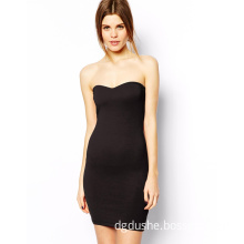 Ladies Fashion Black Mini Women Dress for Clothes (JK11128)